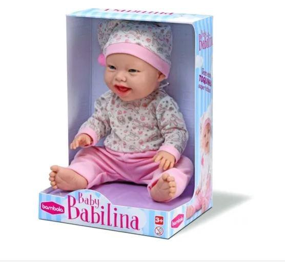 Boneca Baby Babilina com Pijama e Toquinha de Dormir  - Bambola