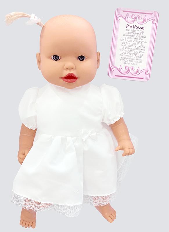 Boneca Bebê Oração Reza O Pai Nosso - MILK BRINQUEDOS