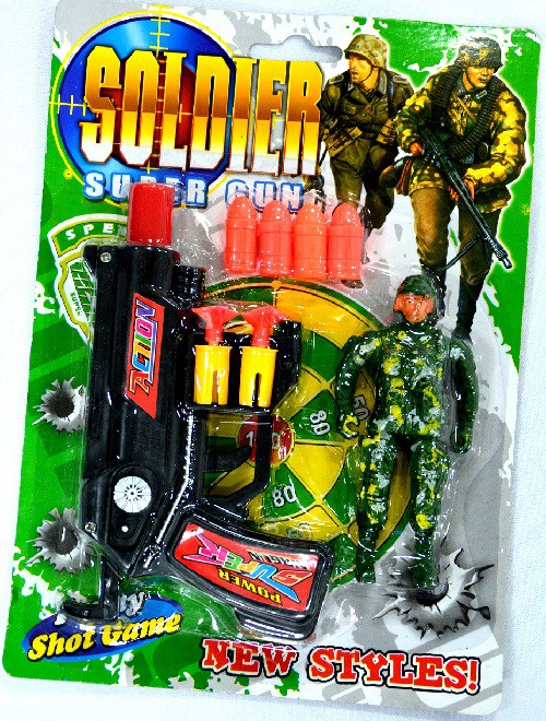 Brinquedo Arma de Plástico Super Gun - Shok