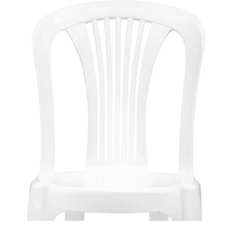Cadeira Plástica Bistrô Branca - Gardenlife