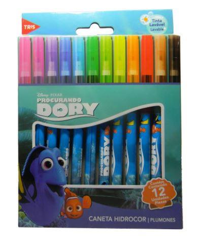 Canetinha Hidrocor Procurando Dory 12 cores - Tris