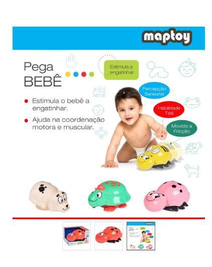 Carrinho de Ficção Pega Bebê - Maptoy