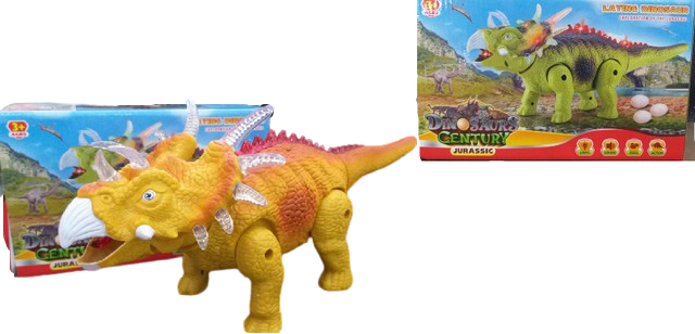 Dinossauro Com Luz E Som Eletrônico C/3ovos