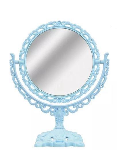 Espelho de Mesa com Base Rertô Princesa Redondo - Dubai