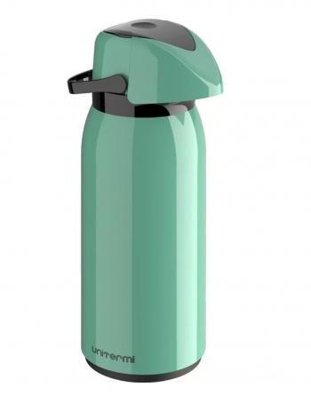 Garrafa Térmica 1 Litro - Verde  ou Salmão- Unitermi