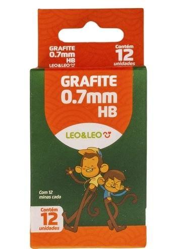 Grafite 0.7mm HB 12 tubos x 12 minas Leo & Leo - Leonora