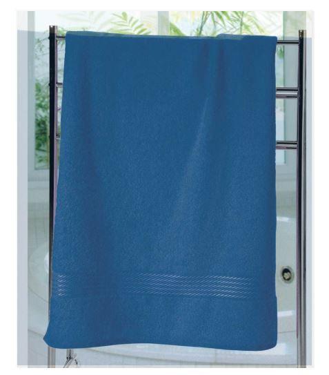 KIT c/3 Toalhas de Banho Felpudo Prisma Liso (AF-1290 Azul) - Dohler