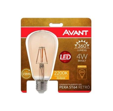 Lâmpada de Filamento AVANT - 4W E-27  2200K
