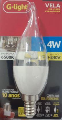 Lâmpada de LED 4W E14 Branco frio c/ adaptador para E27- G-light