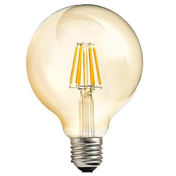 Lâmpada Filamento Led Bulbo Âmbar Bocal E27 4w / 2400W Bivolt