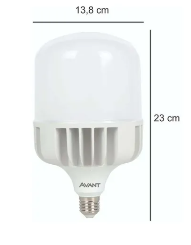 Lâmpada Led Bulbo 75W 6500K e27 Luz Branca Alta Potência- Avant