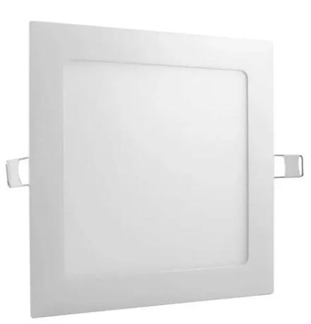 Painel LED quadrado embutir 17x17 12W 6500k branco frio- Avant