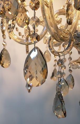 Lustre De Cristal Legítimo K9 6 Braços Conhaque  (1204-6 C)