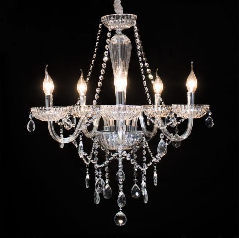 Lustre Cristal Legítimo K9 5 Braços Transparente (1290-5 T)