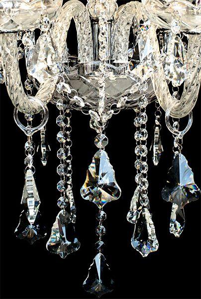 Lustre De Cristal Legítimo K9 8 Braços Transparente (1189-8 T) SEM ESTOQUE