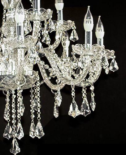 Lustre de Cristal Legítimo K9 12 Braços (1189-8+4T) Transparente