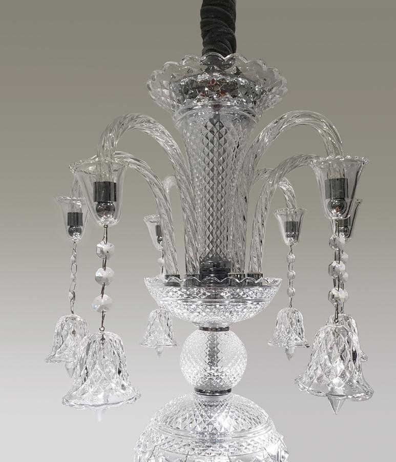 Lustre De Cristal Legítimo K9 6 Braços (9002-6T) Transparente