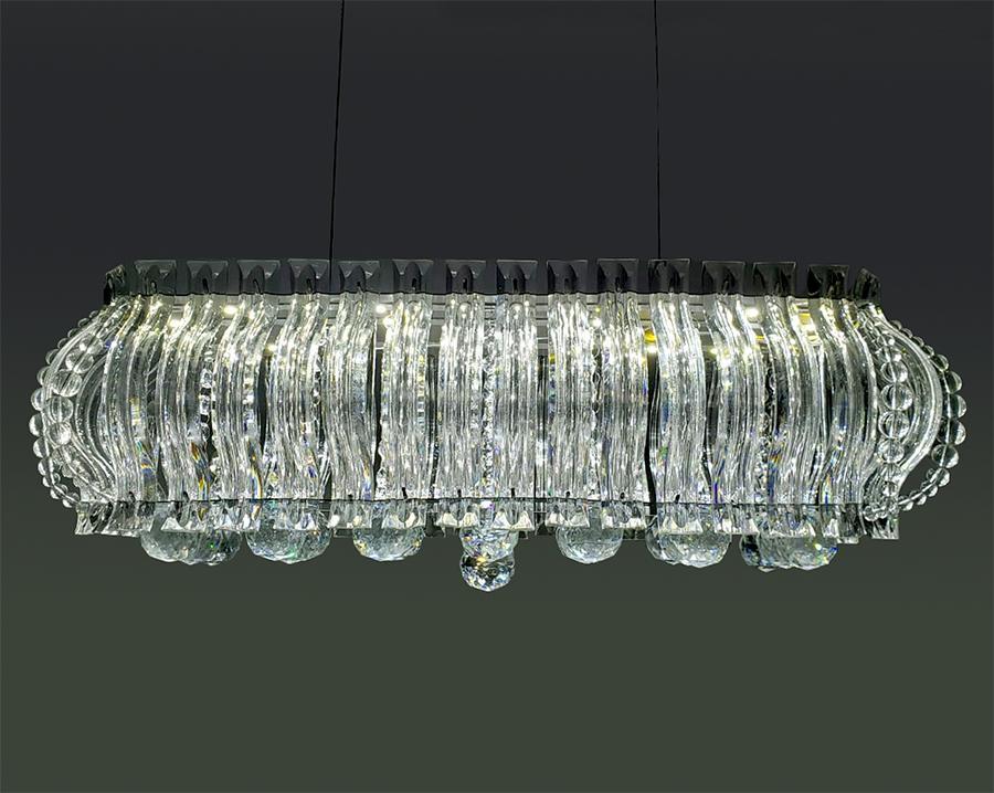 Lustre De Cristal Legítimo K9 C/Lâmpadas De Leds