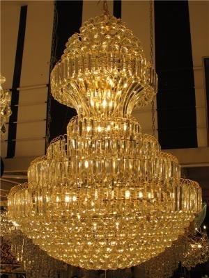 Lustre De Cristal Legítimo K9 Gold Imperial (13818/1000-GD) Pé Direito Alto