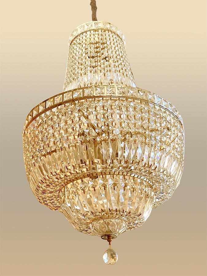 Lustre de Cristal Legítimo K9 Imperial  Gold sem estoque