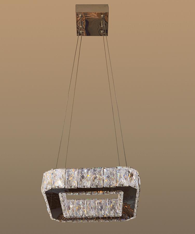 Lustre Pendente Cristal Legítimo k9 Trans. Lâmpadas Inclusas