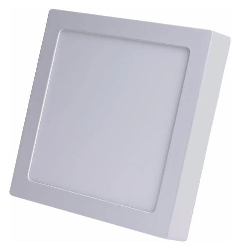 Painel LED de Sobrepor Quadrado 17 x 17 cm 12W - Luz Branca 5.700K