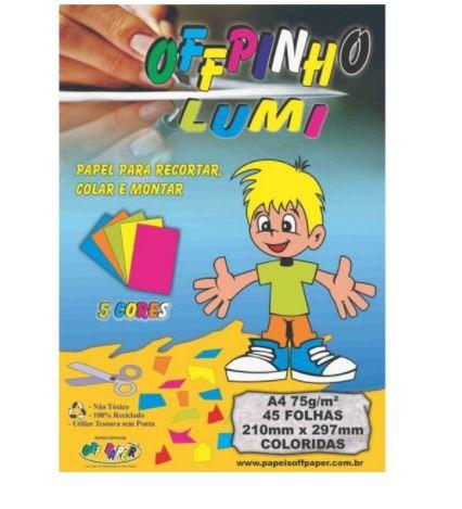 Papel Offpinho Lumi A4 45 Folhas - Off Paper