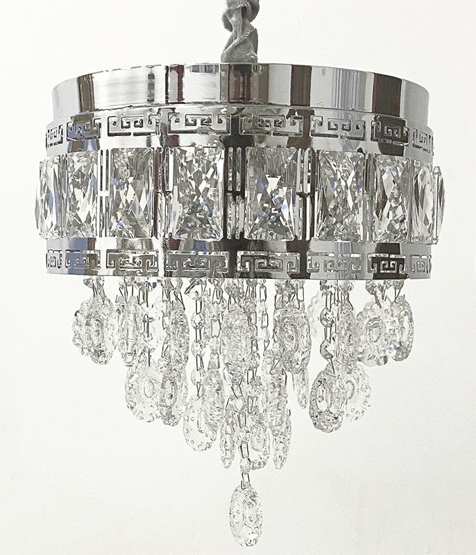 Lustre De Cristal Legitimo K9 Dourado ou Prata  (JA285/300)