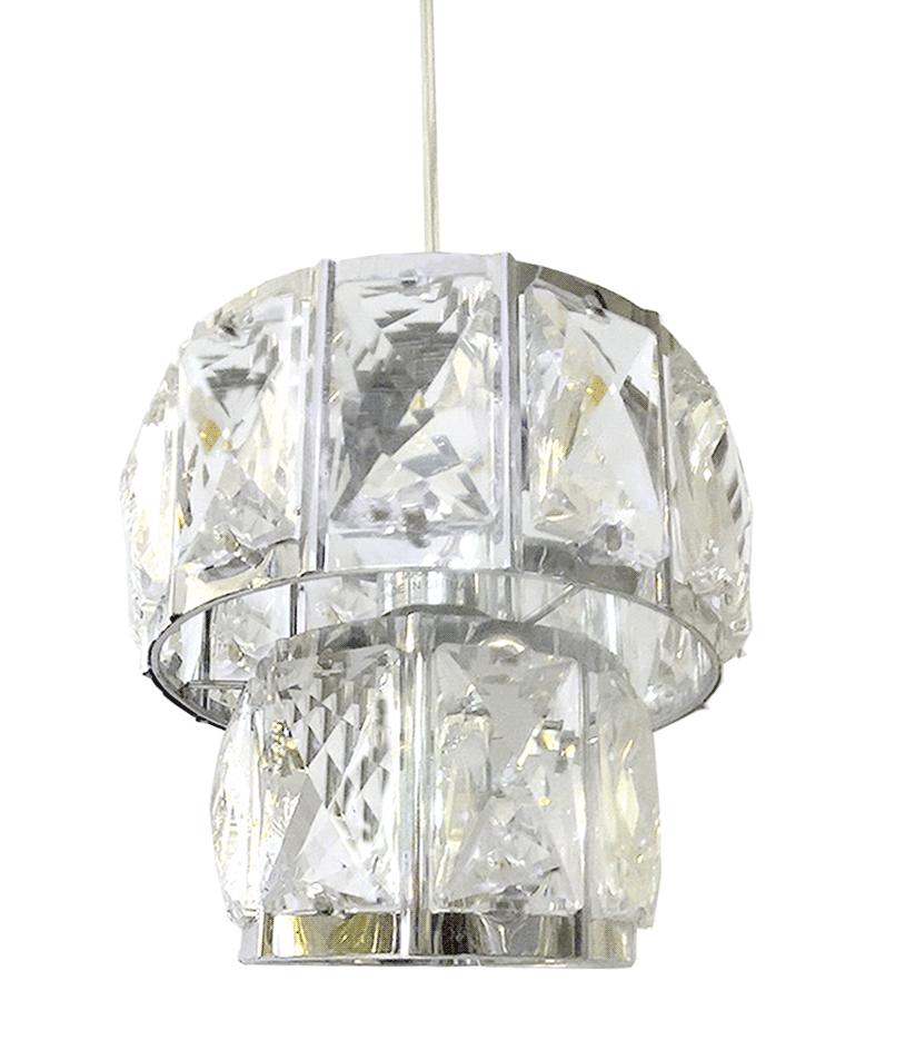 Pendente de Cristal Legítimo K9 Cromado - (A051 CH)