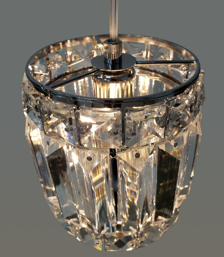 Pendente de Cristal Legítimo K9 Cromado (A087 CH)