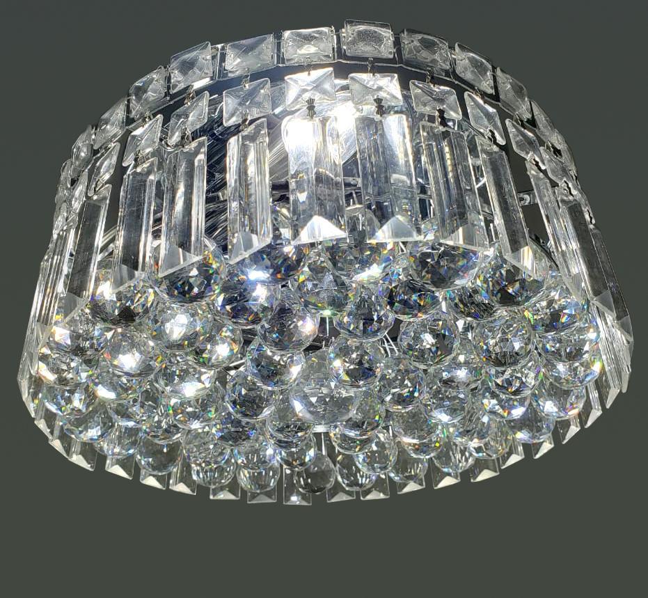 Plafon De Cristal Legítimo K9 33505C12 SEM ESTOQUE