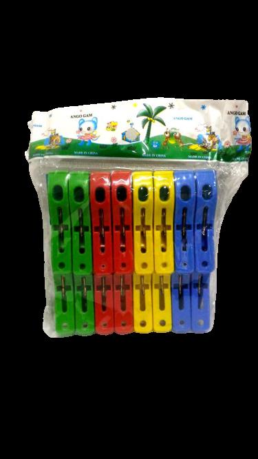 Prendedor de Roupa Plástico 16 unidades P Cores Sortidas - Dubai