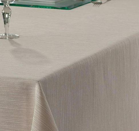 Toalha de Mesa Passion Liso Bege 160mx160m Dohler