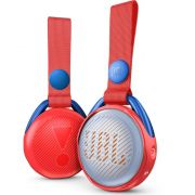 Caixa de Som Bluetooth JBL JR POP À Prova D'água para Criança com Luzes LED Adesivos JBLJRPOPRED