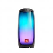 Caixa de Som Bluetooth JBL Pulse 4 Black Preta Partyboost Com Luzes LED 360º 20W RMS JBLPULSE4BLK