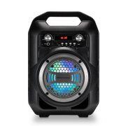Caixa De Som Bluetooth Multilaser SP256 com Bateria Rádio FM MP3 Player USB Função Troca de Pastas