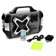Caixa de Som Bluetooth Multilaser SP323 Rádio FM MP3 Player Entrada USB Cartão de Memória Gravador