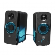 Caixa de Som Gamer JBL Quantum Duo Surround Sound Efeitos de Luzes Conexão Bluetooth / P2 / USB