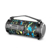 Caixa de Som Pulse SP361 Bazooka Paint Blast 80W Bluetooth Rádio FM USB Micro SD AUX P10 Efeito LED