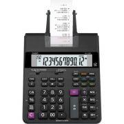 Calculadora Casio HR-150RC Preta Com Impressora Bobina Impressão em 2 Cores Bivolt Reimpressão 2ª Via