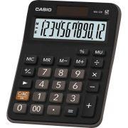 Calculadora Casio MX-12B Preta 12 Dígitos De Mesa Visor Extra Grande Digitação Simultânea de Teclas