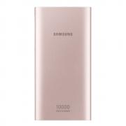 Carregador Portátil Samsung 10000mAh Dourado Rose Power Bank Universal USB Carga Rápida AFC + Cabo C