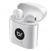 Fone de Ouvido Bluetooth Bright WhiteSound 0513 Branco Sem fio com Microfone e Estojo para Recarga