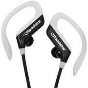 Fone de Ouvido Bluetooth Roadstar RS-110EPB Preto com Branco Headset para Android e iOS