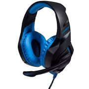 Fone de Ouvido com Microfone Multilaser PH244 Azul Headset Gamer Warrior Straton para PC PS4