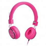 Fone de Ouvido Multilaser Fun PH088 Rosa com Microfone para Atender Ligações Vídeo Chamadas Skype