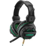 Fone de Ouvido Multilaser PH143 Headset Gamer Warrior com Microfone  para PC Preto com Verde