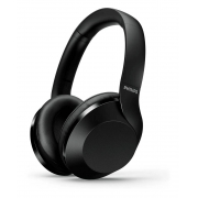 Fone de Ouvido Sem Fio Philips TAPH802 Bluetooth Preto Headphone Over Ear Hi-Res Audio TAPH802BK/00