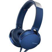 Fone de Ouvido Sony com Microfone  MDR-XB550AP Lançamento - Azul