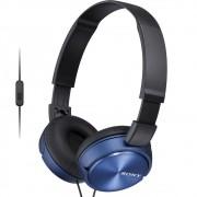 Fone de Ouvido Sony MDR-ZX310AP Azul Preto Headphone Dobrável Headset Com Microfone Integrado